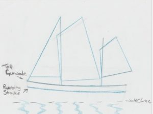 Artists impression of the James Caird mockup