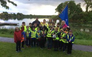 Mullagh Cubs and Beavers, with James Caird 100 in the background.